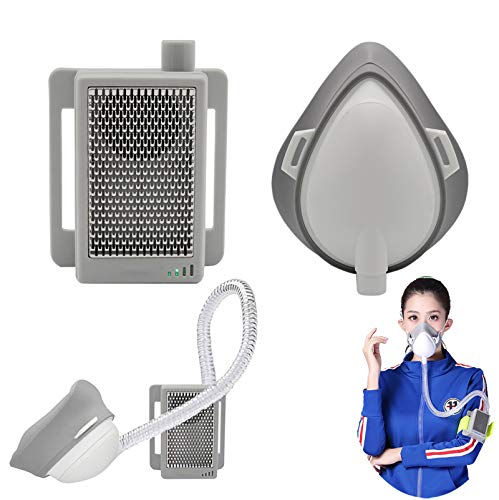 LICHUXIN Portable Air Purifier, Rechargeable electric face shield Air Purifier Respirator Comfortable And Easy To Breathe, Protect Personal Health And Breathing Smoothly