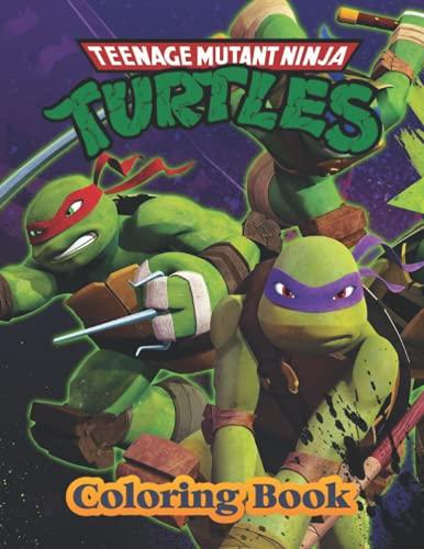 Teenage Mutant Ninja Turtles Coloring Book: JUMBO Coloring Book For Kids - Ages 2-13+