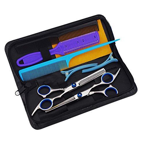 Vap26 Juego de tijeras de peluquería de acero inoxidable, 9 piezas, No nulo, como en la imagen, Tamaño libre