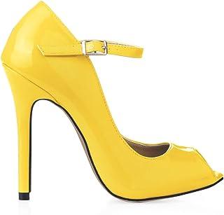 e89077dfd72018 Amazon.fr : Jaune - Escarpins / Chaussures femme : Chaussures et Sacs