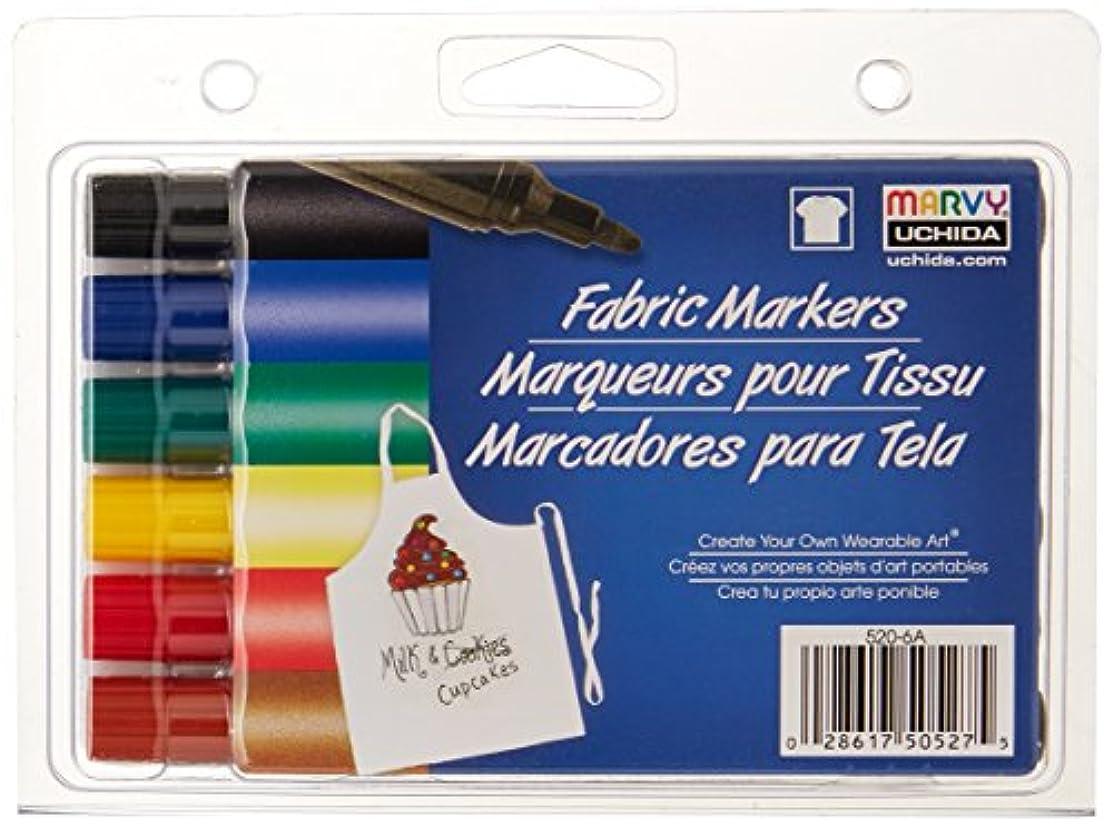 UCHIDA UCH520-6A Fabric Primary Broad Marker Set, 6 Piece