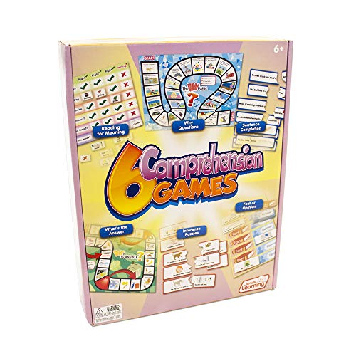 Junior Learning 6 Comprehension Games, Multi, (Model: JL406)