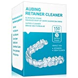 Retainer Cleaning Tablets 150 Tablets - 5 Months Supply, Mouth Guard Cleaner, Remove Stains and Bad Odor, Prevent Brace Discoloration, Mint Flavor