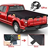 BORDAN Truck Bed Tarp Cover (6.5'Box) Fits for Ford F150 GMC Silverado/Sierra Ram/Toyota Tundra Waterproof Oxford Pickup Truck Bed Cover with 12 PCS Bungee Cords-(Fits 6.5'Truck Bed