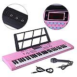 YAKOK Piano Infantil, 61 Teclas Electrico Piano Bebe Teclado con Microfono Juguetes Musicales para N...