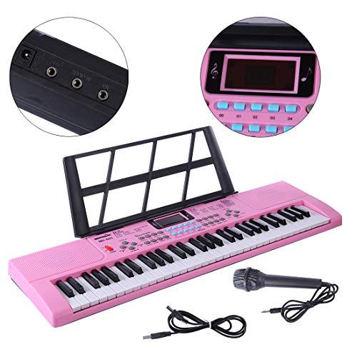 YAKOK Piano Infantil, 61 Teclas Electrico Piano Bebe Teclado con Microfono Juguetes...