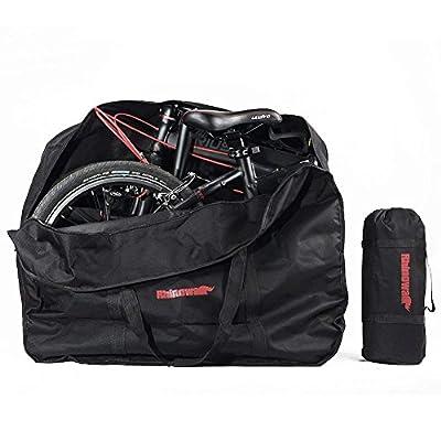CamGo 20 Inch Folding Bike Bag - Waterproof Bicycle Travel Case Outdoors Bike Transport Bag for Cars Train Air Travel (Black, 20 inch)