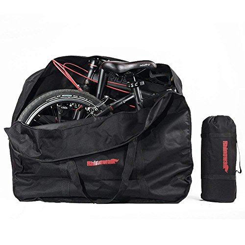 CamGo 20 Inch Folding Bike Bag - Waterproof Bicycle Travel Case Outdoors Bike Transport Bag for Cars Train Air Travel (Black, 20 inch)