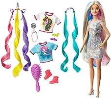Barbie Peinados Fantasía Rubia con Looks de Sirena y Unicornio (Mattel GHN04)
