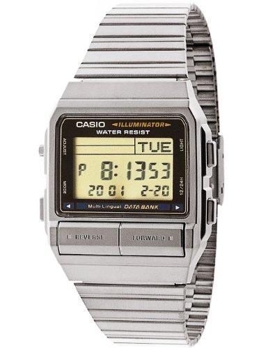 Casio DB380–1d Casio Plata & Negro Digital Reloj–Plata/un tamaño