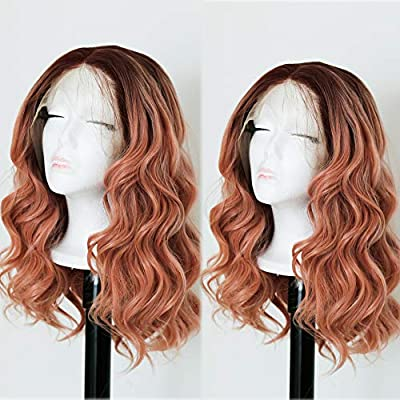 Andrai Hair Short Bob Lace Front Wigs Glueless Natural Wave Synthetic Heat Resistant Fiber Hair Wig With Baby Hair For Black Women