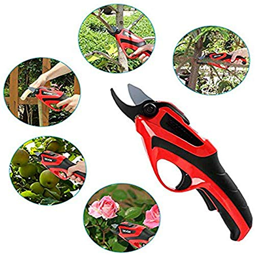 Amazing Deal CKAN Electric Pruning Shears, Professional Electric Secateurs, Tree Branch Pruner, for ...