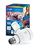 LIFX Smart LED Light Bulb, Wi-Fi, Color 1000 A19, Multicolor, Dimmable, Works with Amazon Alexa