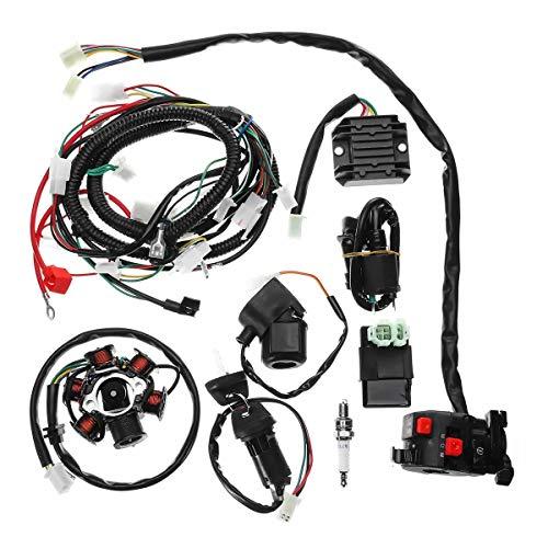 Motorrad-Motor-Kit Motorrad Voll Elektrik Kabelbaum Loom CDI Coil for GY6 150CC ATV Quad Go-Kart-Buggy Motor Motor...