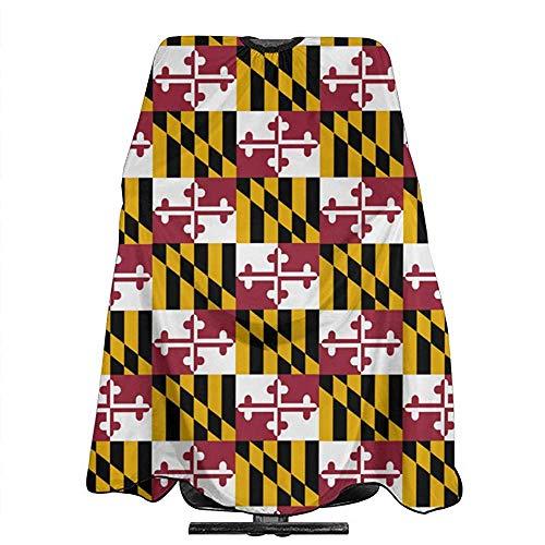 Schort voor slabbetjes uit de Duitse vlag van Del Maryland, voor het snijden van haren, voor professionele slabbetjes en handdoeken 140 x 168 cm, Barbiere Cape Sbarber