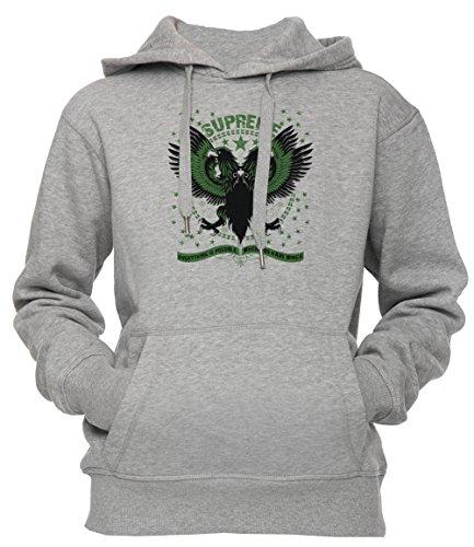 Supreme Unisex Uomo Donna Felpa con Cappuccio Pullover Grigio Dimensioni L Men's Women's Hoodie Sweatshirt Grey Large Size L