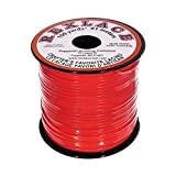 Craft County Rexlace Plastic Craft Lace, 3/32-Inch (Red)