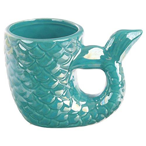 Puckator Enchanted Seas Keramik geformter Griff Meerjungfrau Schwanz Tasse