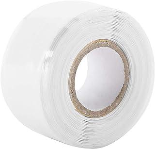 Cinta Aislada de Goma de Silicona Auto-Fusionable Cinta de Sellado Impermeable Rectangular para Antena de Exterior Cables Coaxiales y Eléctricos Manguera/Fugas de Tubería y Reparaciones(White)