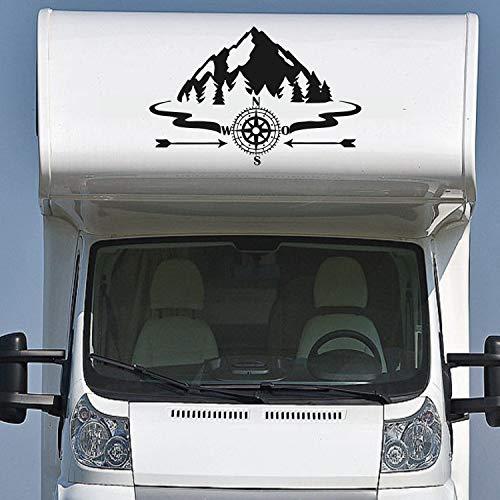 Adesivo importante Montagna XL 90 x 60 cm per esterni ADESIVI Camper E Caravan Roulotte Auto Caravan Tuning