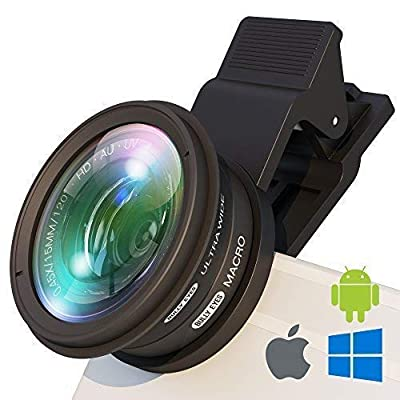 BullyEyes - Phone Camera Lens Attachment : Wide Angle and Macro for iPhone, Samsung, Huawei. For Outdoors Photography and Vlogging: Yoga, Parkour, Skating, Gym Workout, Camp, Travel from BullyEyes