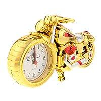 Baosity 小説オートバイ時計モデルアートクラフトホビーおもちゃギフトホームデスクオフィスの装飾 - ゴールドB