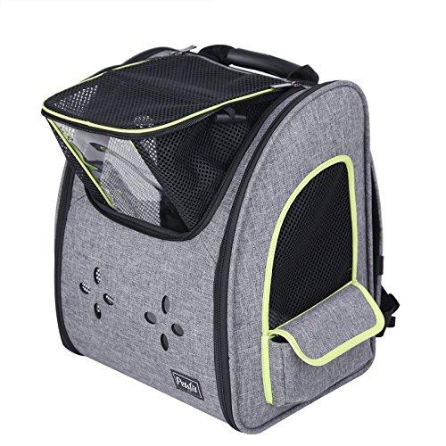 Petsfit Komfort Hunde Rucksack, Stoff Pet Bag mit Guter Belüftung, Free Size, Grau