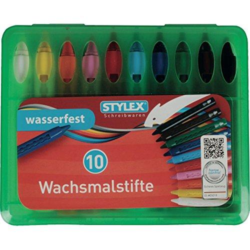 Toppoint 28215A Waskrijtjes, waxkleurblokken, wasverfdruppel-etui, waterdichte doos