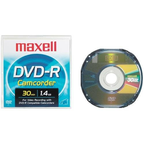 Maxell DVD-R-CAM-PANA 3' DVD-R Round Cartridges for Panasonic and Late Model Hitachi DVD Camcorders