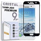 REY Protector de Pantalla Curvo para Samsung Galaxy S7 Edge, Negro, Cristal Vidrio Templado Premium, 3D / 4D / 5D