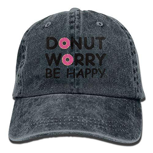 Alicoco Donut Worry Be Happy Gorras de béisbol Sombreros de Mezclilla para Hombres Mujeres