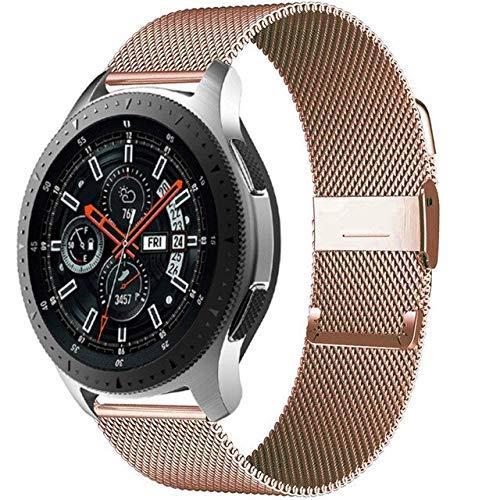 YYCHER 20mm/2mm milanese cinturino GT 2-2e-Pro bracciale compatibile con Galaxy Watch 3 45mm/46mm/42mm/Active 2 4mm 40mm Band (colore : oro rosa, dimensioni: per Huawei GT2-2e 42mm)