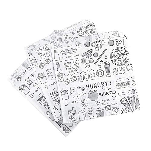 SKIR'CO - Confezione da 50 sacchetti per alimenti veloci, 15 x 15 cm, confezione da 50 pezzi
