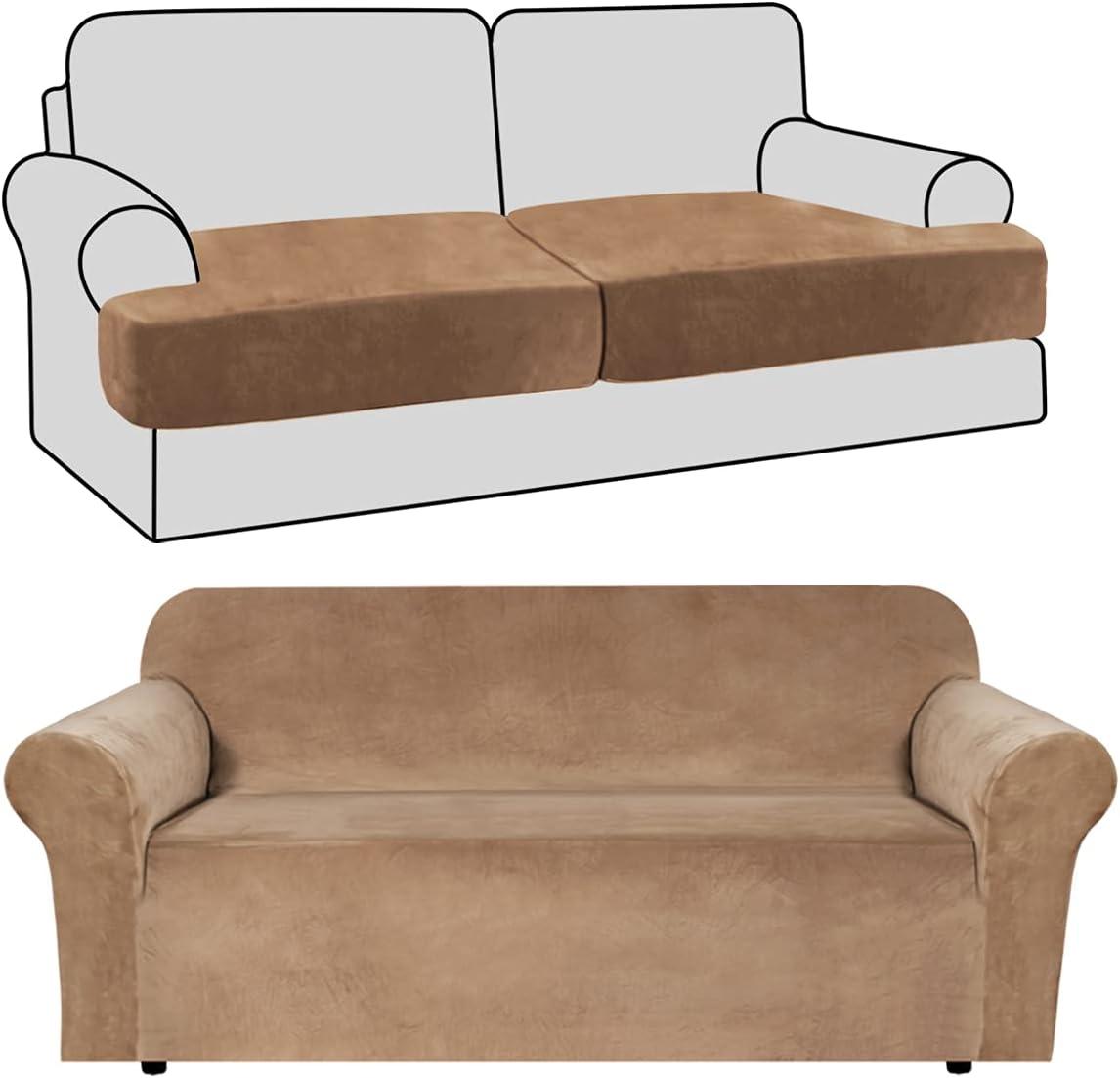 Memphis Mall H.VERSAILTEX Stretch Velvet Sofa Covers Jacksonville Mall and T Cushion Piece 2 So