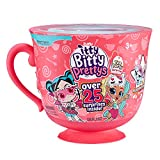 Itty Bitty Prettys Tea Party Teacup Dolls Playset (with Over 25 Surprises!) by Zuru - Rocker and Unicorn, Blue Top (9703A)