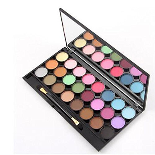 Professional 24 couleurs Ombre à paupières Matte Earth Color Eyeshadow Ensemble de maquillage cosmétique avec miroir , 2