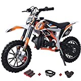 X-PRO Bolt 50cc Dirt Bike Gas Dirt Bike Kids Dirt Bikes Pit Bikes Youth Dirt Pitbike with Gloves, Goggle and Handgrip, Orange