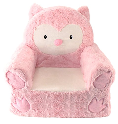 Animal Adventure | Sweet Seats | Pink Owl Children's Plush Chair