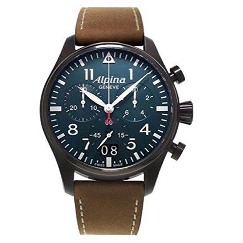 Alpina Herren-Armbanduhr Chronograph Quarz Leder 372N4FBS6