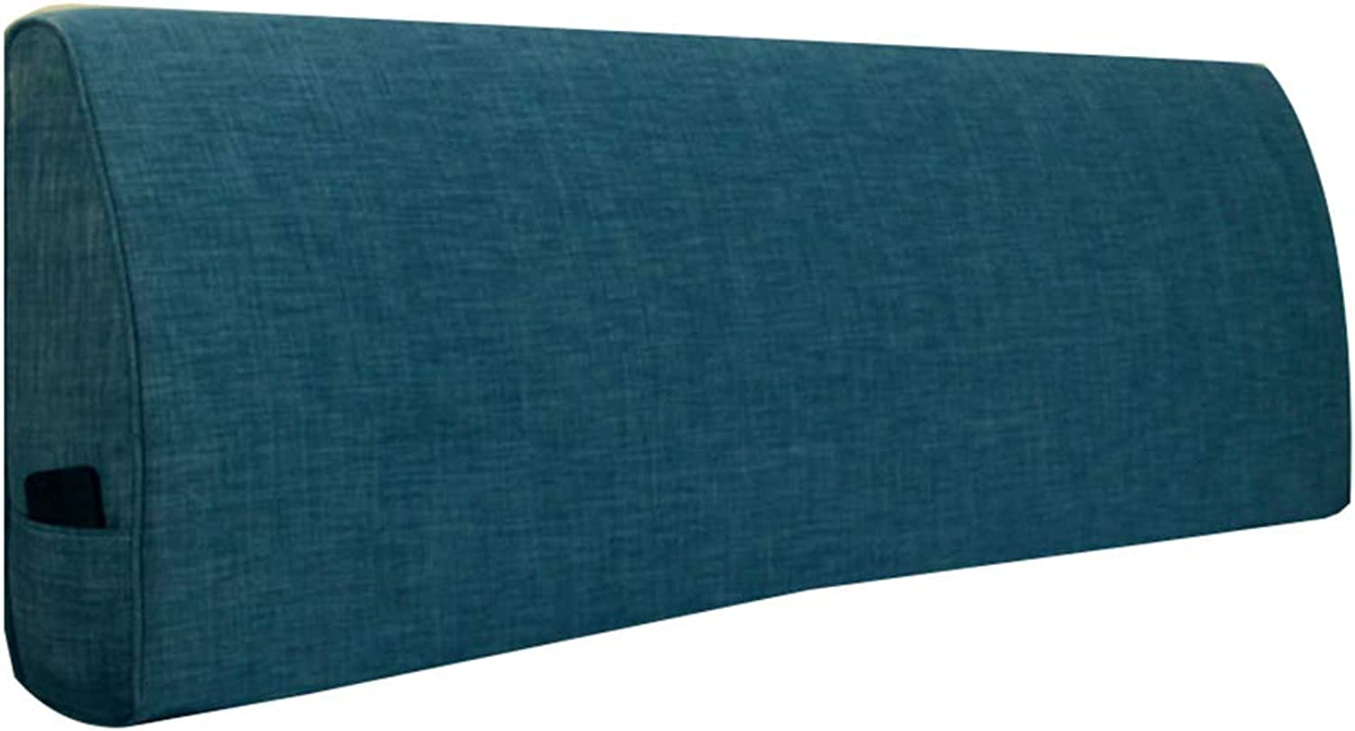WENZHE Upholstered Fabric Headboard Bedside Cushion Pads Cover Bed Wedges Backrest Waist Pad Cloth Soft Case Washable Home Lounge Without Headboard Simple Do Not Fade, 3 colors