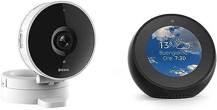 Echo Spot nero + D-Link DCS-8010LH Telecamera Grandangolare 120°, Wi-Fi, HD, Registrazione Cloud Gratuita, Funziona con Alexa - Trova i prezzi più bassi