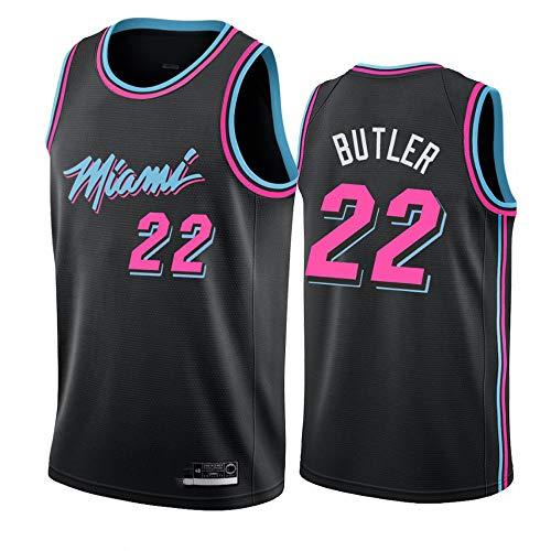XSJY El Baloncesto De Los Hombres Jersey-Miami Heat # 22 Jimmy Butler Jersey, Edition Jersey, Malla Bordada Baloncesto Swingman Jersey,B,XXL:185~190cm/95~110kg