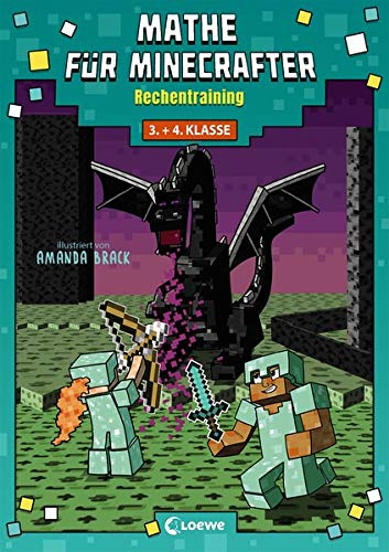 Mathe für Minecrafter - Rechentraining: Mathematik-Nachhilfe für Jungen und Mädchen in der 3. und 4. Klasse
