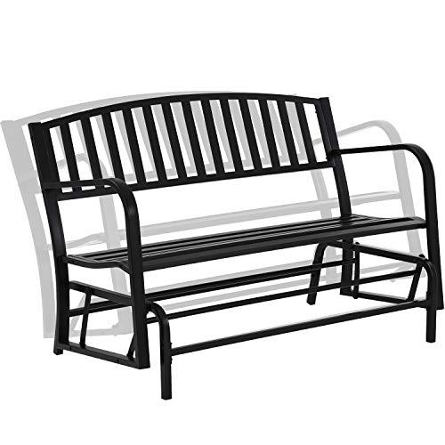 FDW Patio Glider Bench Garden Bench for Patio Outdoor Bench Metal Bench Park Bench Cushion for Yard Porch Work Entryway