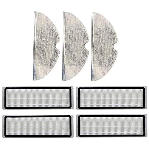SDFIOSDOI Piezas de aspiradora Filtros de Limpieza Paños de