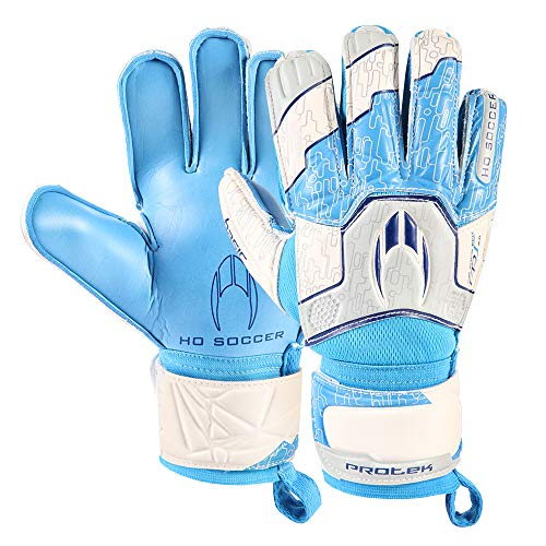 HO Soccer Basic Protek Flat Blue Spark keepershandschoenen unisex kinderen één maat blauw/wit