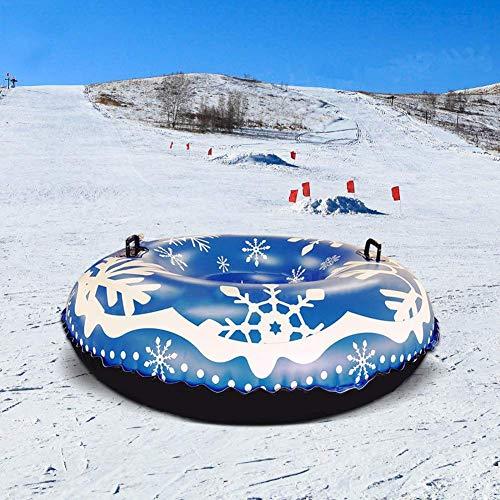 Snow-Tube Inflatable, Schnee-Schlitten, 47In Heavy Duty Aufblasbare Schneerohr Skifahren Zubehör Für Kinder Und Erwachsene
