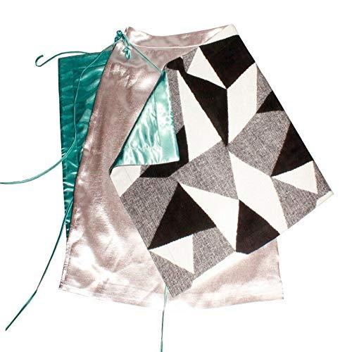 MIBKLPG Rokken Voor Dames Rokken Met Hoge Taille Vetersluiting Patchworkrok Asymmetrische Rok Met Geometrisch Patroon