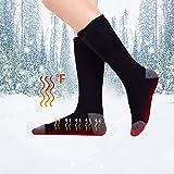 Ridecyle Homme et Femme Chaussettes chauffantes, Rechargeable USB Température Réglable Chauffage Chaussettes Pied Chaud...