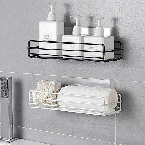 Badkamer Badkamer Keuken Opslag Mand Opslag Multi-Purpose Wandmontage Zwart Wit 2 Stuks